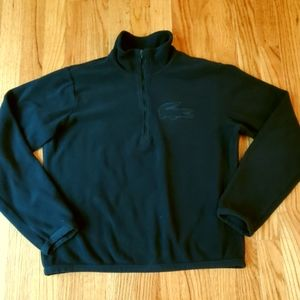 Lacoste Womens Big Logo Fleece 1/2 Zip Pullover